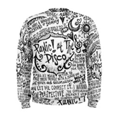 Panic! At The Disco Lyric Quotes Men s Sweatshirt by Onesevenart