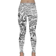 Panic! At The Disco Lyric Quotes Yoga Leggings  by Onesevenart