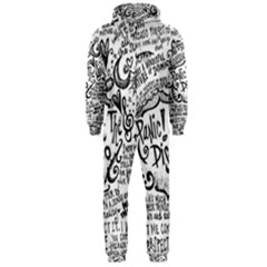 Panic! At The Disco Lyric Quotes Hooded Jumpsuit (men)  by Onesevenart
