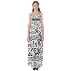 Panic! At The Disco Lyric Quotes Empire Waist Maxi Dress by Onesevenart