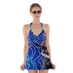 Panic! At The Disco Released Death Of A Bachelor Halter Swimsuit Dress by Onesevenart
