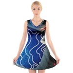 Panic! At The Disco Released Death Of A Bachelor V-Neck Sleeveless Skater Dress