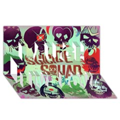 Panic! At The Disco Suicide Squad The Album Laugh Live Love 3d Greeting Card (8x4) by Onesevenart