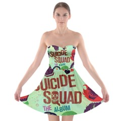 Panic! At The Disco Suicide Squad The Album Strapless Bra Top Dress by Onesevenart