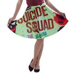 Panic! At The Disco Suicide Squad The Album A Line Skater Skirt by Onesevenart