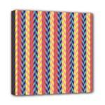 Colorful Chevron Retro Pattern Mini Canvas 8  x 8