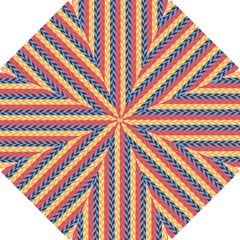Colorful Chevron Retro Pattern Hook Handle Umbrellas (small) by DanaeStudio