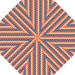 Colorful Chevron Retro Pattern Hook Handle Umbrellas (Small)