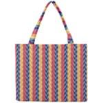 Colorful Chevron Retro Pattern Mini Tote Bag