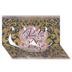 Panic! At The Disco Twin Hearts 3d Greeting Card (8x4) by Onesevenart