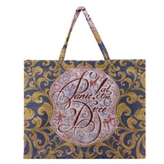 Panic! At The Disco Zipper Large Tote Bag by Onesevenart