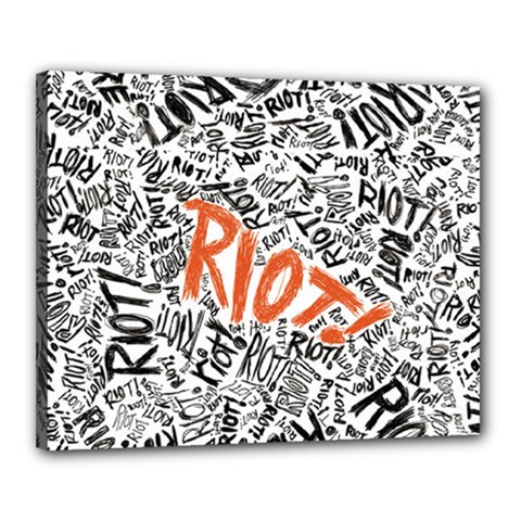 Paramore Is An American Rock Band Canvas 20  X 16  by Onesevenart