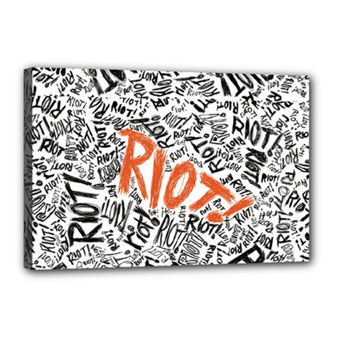 Paramore Is An American Rock Band Canvas 18  X 12  by Onesevenart