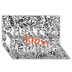 Paramore Is An American Rock Band Best Friends 3d Greeting Card (8x4) by Onesevenart