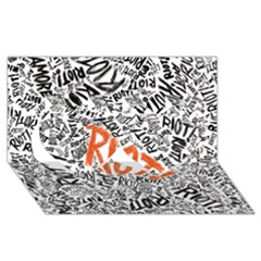 Paramore Is An American Rock Band Twin Hearts 3d Greeting Card (8x4) by Onesevenart