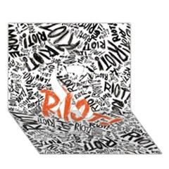Paramore Is An American Rock Band Ribbon 3d Greeting Card (7x5) by Onesevenart