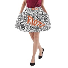 Paramore Is An American Rock Band A Line Pocket Skirt by Onesevenart