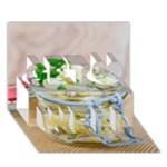 1 Kartoffelsalat Einmachglas 2 Get Well 3D Greeting Card (7x5)
