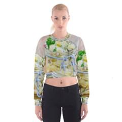 1 Kartoffelsalat Einmachglas 2 Women s Cropped Sweatshirt by wsfcow
