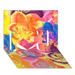 Pop Art Roses I Love You 3d Greeting Card (7x5) by DanaeStudio