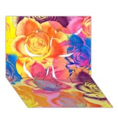Pop Art Roses Clover 3d Greeting Card (7x5) by DanaeStudio