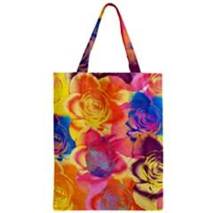 Pop Art Roses Zipper Classic Tote Bag by DanaeStudio
