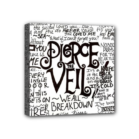 Pierce The Veil Music Band Group Fabric Art Cloth Poster Mini Canvas 4  X 4  by Onesevenart