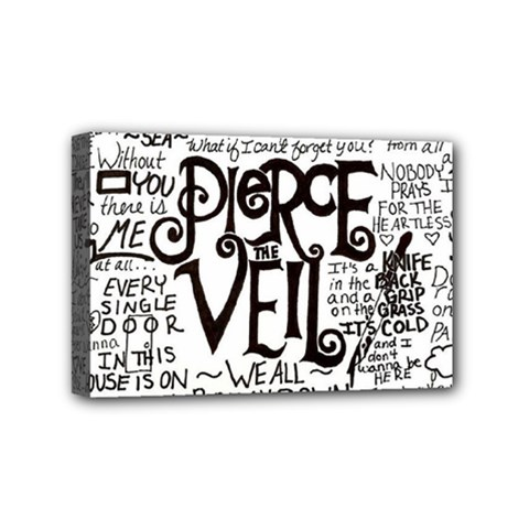 Pierce The Veil Music Band Group Fabric Art Cloth Poster Mini Canvas 6  X 4  by Onesevenart