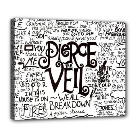 Pierce The Veil Music Band Group Fabric Art Cloth Poster Deluxe Canvas 24  X 20   by Onesevenart