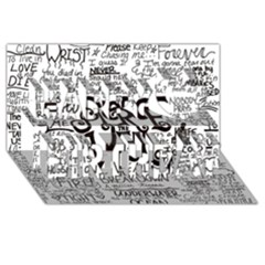 Pierce The Veil Music Band Group Fabric Art Cloth Poster Happy Birthday 3d Greeting Card (8x4) by Onesevenart