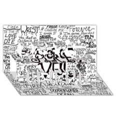 Pierce The Veil Music Band Group Fabric Art Cloth Poster Best Friends 3d Greeting Card (8x4) by Onesevenart