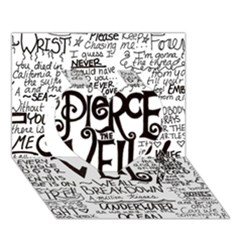 Pierce The Veil Music Band Group Fabric Art Cloth Poster Heart 3d Greeting Card (7x5) by Onesevenart