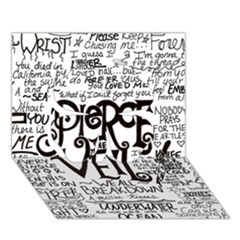 Pierce The Veil Music Band Group Fabric Art Cloth Poster Clover 3d Greeting Card (7x5) by Onesevenart