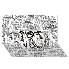 Pierce The Veil Music Band Group Fabric Art Cloth Poster Best Bro 3d Greeting Card (8x4) by Onesevenart