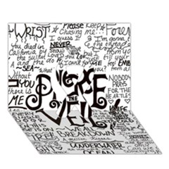 Pierce The Veil Music Band Group Fabric Art Cloth Poster Ribbon 3d Greeting Card (7x5) by Onesevenart