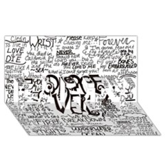 Pierce The Veil Music Band Group Fabric Art Cloth Poster Party 3d Greeting Card (8x4) by Onesevenart