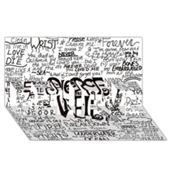 Pierce The Veil Music Band Group Fabric Art Cloth Poster Believe 3d Greeting Card (8x4) by Onesevenart