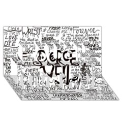 Pierce The Veil Music Band Group Fabric Art Cloth Poster Laugh Live Love 3d Greeting Card (8x4) by Onesevenart