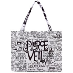 Pierce The Veil Music Band Group Fabric Art Cloth Poster Mini Tote Bag by Onesevenart