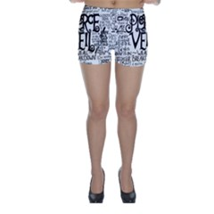 Pierce The Veil Music Band Group Fabric Art Cloth Poster Skinny Shorts by Onesevenart