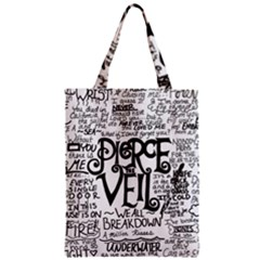 Pierce The Veil Music Band Group Fabric Art Cloth Poster Zipper Classic Tote Bag by Onesevenart