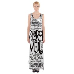 Pierce The Veil Music Band Group Fabric Art Cloth Poster Maxi Thigh Split Dress by Onesevenart
