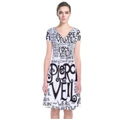 Pierce The Veil Music Band Group Fabric Art Cloth Poster Short Sleeve Front Wrap Dress by Onesevenart