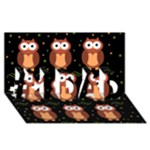 Halloween brown owls  #1 DAD 3D Greeting Card (8x4)