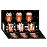 Halloween brown owls  BELIEVE 3D Greeting Card (8x4)