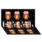 Halloween brown owls  ENGAGED 3D Greeting Card (8x4)