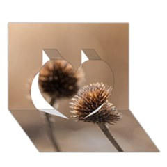 Withered Globe Thistle In Autumn Macro Heart 3d Greeting Card (7x5) by wsfcow