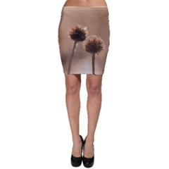Withered Globe Thistle In Autumn Macro Bodycon Skirt by wsfcow