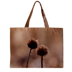 Withered Globe Thistle In Autumn Macro Mini Tote Bag by wsfcow