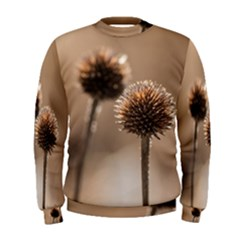 Withered Globe Thistle In Autumn Macro Men s Sweatshirt by wsfcow